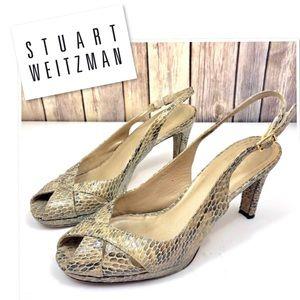 💥SALE💥 Stuart Weitzman snake print slingback 7.5